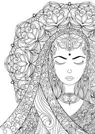 Coloring Pages For Adult Indian Woman Adult Por Annawiltonart I