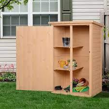 fir wood garden storage shed