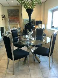 fashionable dining room chairs set of 4 glass and chrome dining table glass chrome cross leg