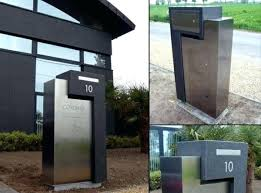 Mailbox Design Ideas Modern Mailbox Design Ideas Stainless Steel