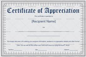 Certificate Of Appreciation Templates Editable Designs In