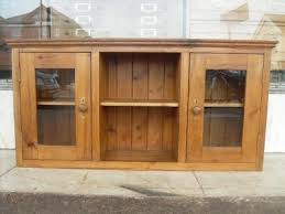 antique style pine wall cupboard