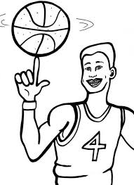 Basketball Coloring Pages Free Download Best Basketball Coloring