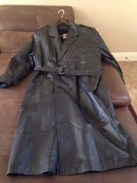 mens full length leather trench coat