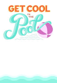 Pool Word Free Printable Birthday Pool Party Invitations Templates Invitation