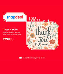 digital entertainment todays shopping deals offers in snapdeal thank you e gift card