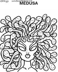 Small Picture Book of Monsters coloring page for kids Medusa Greek mythology