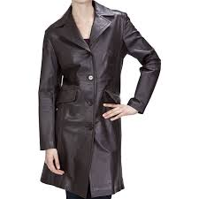 a discipline women s leather walking trench coat