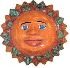 desert talavera ceramic big sun face