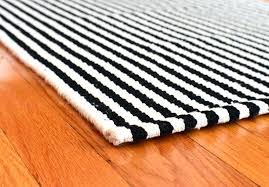 black and white wool rug cotton 1 felted