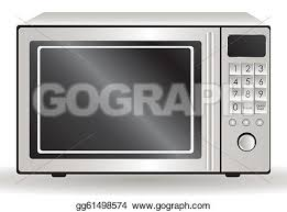 microwave clipart. eps illustration - of a microwave, isolated on white background, vector illustration. microwave clipart