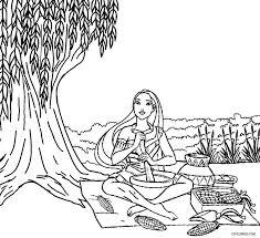 Small Picture Pocahontas Coloring Sheets Printable Pocahontas Coloring Pages