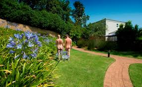 Image result for nudist in garden