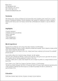 Vip Hostess Resume Template Best Design Tips Myperfectresume