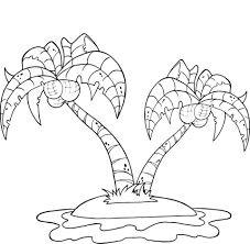Small Picture Coconut Palm Trees on Island coloring page Free Printable