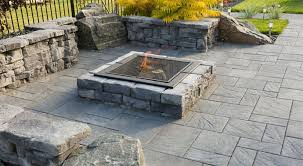 concrete patio with square fire pit. Stone Oasis Square Firepit. PrevNext Concrete Patio With Fire Pit