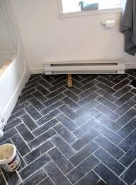 diy herringbone floor using l n stick luxury vinyl tile