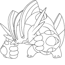 All Mega Pokemon Coloring Pages With Pokemon Coloring Pages Mega