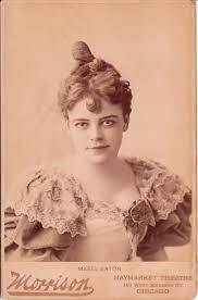 MABEL EATON: STAGE ACTRESS AT THE HAYMARKET THEATRE IN CHICAGO, ILLINOIS |  THE CABINET CARD GALLERY