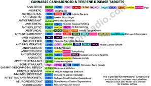 Cannabinoid And Terpene Chart Members Michigan Medical