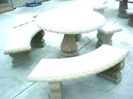 concrete patio table o and benches bench design dining furniture outdoor molds round concrete patio table and chairs