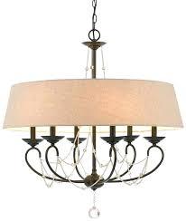 bronze drum shade chandelier burlap drum shade chandelier bronze iron burlap crystals drum chandelier 6 lights