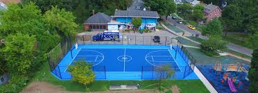 outdoor basketball court construction ny