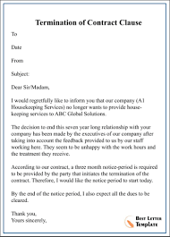contract cancellation letter templates