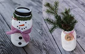 Mason Jars Decorated For Christmas Christmas Crafts Ideas StepbyStep Blue Mountain 43