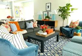 green and orange living room red blue with teal burnt