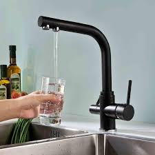 matte black faucet. Wholesale Matte Black Kitchen Faucet Tri Flow Swivel Sink Mixer 3 Pertaining To Faucets C