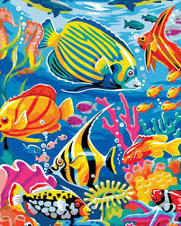 underwater world paint digital diy oil painting home decoration by numbers pop wall art gift simple