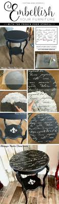stenciling furniture ideas. cutting edge stencils shares a diy side table makeover using the french poem craft stencil and stenciling furniture ideas n