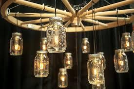 image of amish wagon wheel chandelier