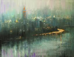 saatchi art artist chin h shin painting on the way to new york