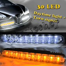 Led Car Signal Lights Details About 30 Led Daytime Running Light Drl Driving Kit With Turning Signal Fit For Toyota