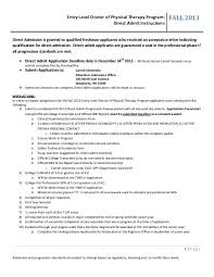 Doctor Applications Entry Level Doctor Of Physical Therapy Program Carroll University