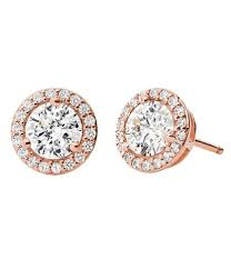 michael kors custom kors collection sterling silver pave halo stud earrings color swatchcolor swatch