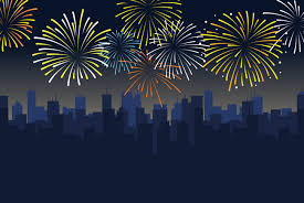 new years eve fireworks background. Perfect Years Blue Fireworks On New Yearu0027s Eve Party Fashion Cartoon Background Material  Blue Fashion For New Years Eve Fireworks Background