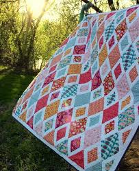 10 Diamond Quilt Patterns for Beginners – Make one of these Easy ... & DiamondAffair. Diamonds ... Adamdwight.com