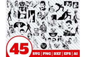 Search images from huge database containing over 290,000 silhouettes. Download Free Svg Files Creative Fabrica Design Freddie Mercury Svg