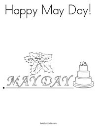 Small Picture Happy May Day Coloring Page Twisty Noodle