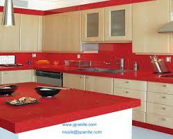 red quartz kitchen countertops