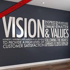 vision values 3d letters office wall art wall decal wall sticker on business motivational wall art with vision values 3d letters office wall art wall decal wall