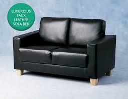 details about black faux leather 2 seater sofa modern comfortable design living room furniture