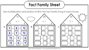 Maths Free Fact Family Multiplication And Division Families 3rd ...