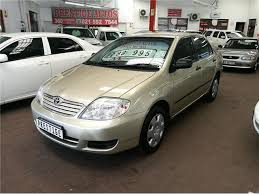 toyota corolla. 2005 gold toyota corolla 160i gle at with 235000km available now