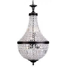 crystal basket chandelier milles medium bronze 6 light