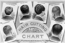 Details About Classic Barber Shop Haircut Chart 1884 8x12 Silver Halide Photo Print