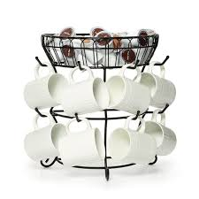 Tea Cup Display Stand Mug Tree Rack Coffee Tea Cup Holder Stand Hold Organizer Storage 64